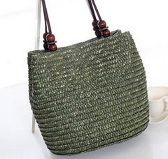 Casual Straw Bucket Straw Tote Bag (3 colors)