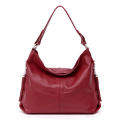 Soft Genuine Leather Classic Shoulder Bag (10 colors)