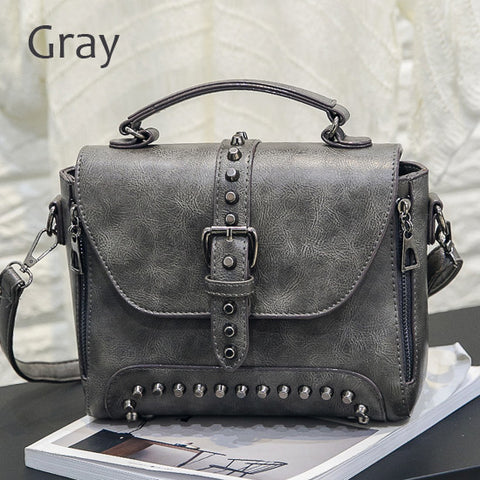 LindsiAlexander.com Vintage Riveted Handbag in Gray