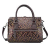 Image of LindsiAlexander.com Genuine Leather Vintage Embossed Handbag