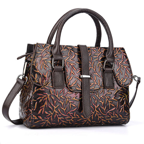 LindsiAlexander.com Genuine Leather Vintage Embossed Handbag