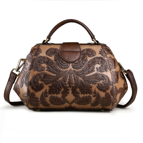 LindsiAlexander.com Genuine Leather Embossed Handbag