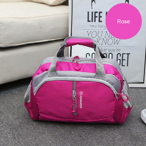 LindsiAlexander.com Fitness Gym Nylon Duffel Bag in Pink