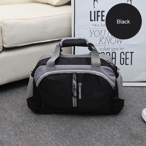 LindsiAlexander.com Fitness Gym Nylon Duffel Bag in Black