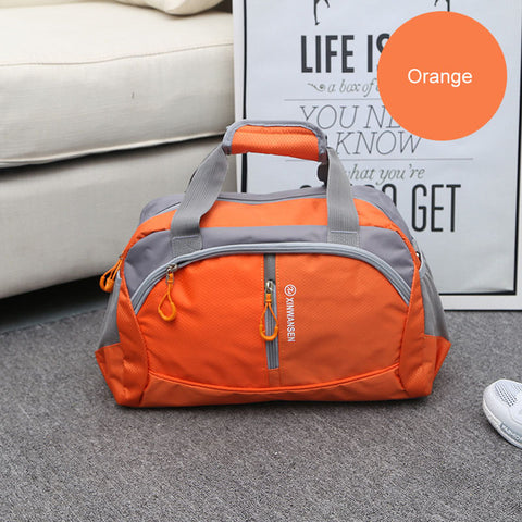 LindsiAlexander.com Fitness Gym Nylon Duffel Bag in Orange