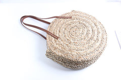 Moroccan Palm Basket Shoulder Bag