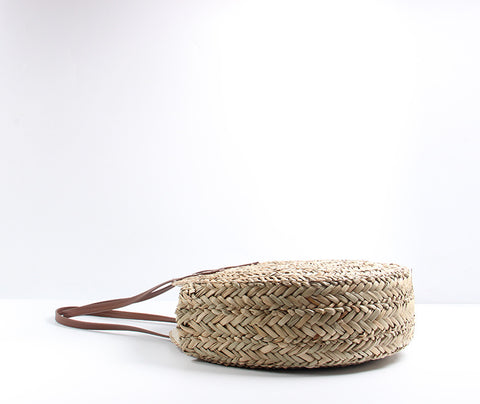 LindsiAlexander.com - Moroccan Palm Basket Shoulder Bag