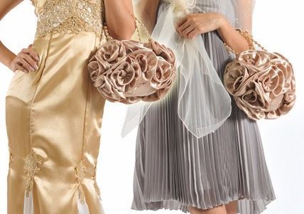 LindsiAlexander.com - Silk Flower Evening Bag in Gold
