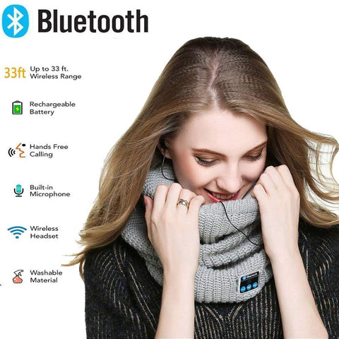 Bluetooth Headphones Scarf Wireless
