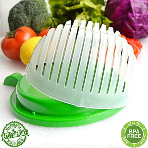 Salad Cutter Bowl 60 Seconds Easy Salad Maker Fruit Vegetable Kitchen