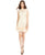 Jessica Simpson Floral Lace Ruffle Hem Sheath Dress - Vanilla Cream