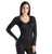 Hanro Of Switzerland Women's Woolen Lace Long Sleeve Shirt - Black