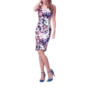 Jessica Simpson Sleeveless Floral Print Scuba Dress - Floral