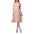 Jessica Simpson Strapless Embellished Floral Mesh Dress - Gold