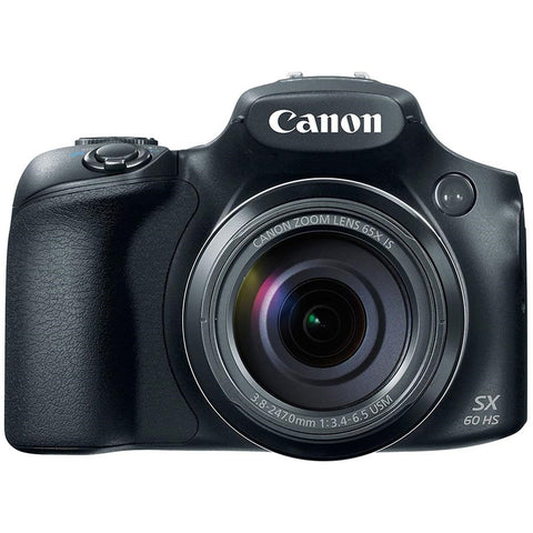 Canon PowerShot SX60-HS 16.1MP Advanced Digital Camera (Black) with 65x Optical Zoom
