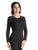 Hanro Of Switzerland Women's Moma Long Sleeve Shirt - Black