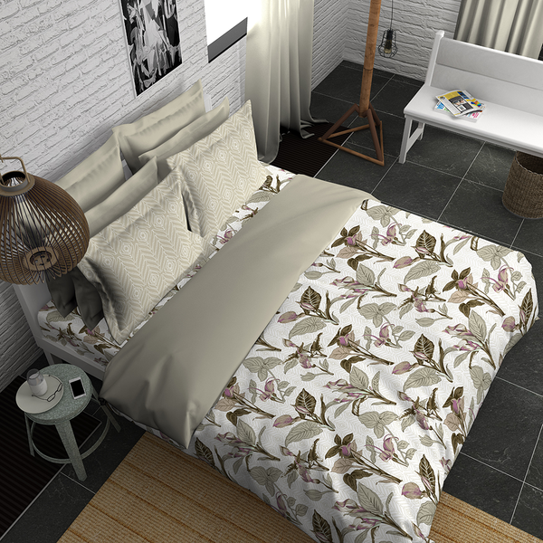 Boutique Living India Trendsetter Palatial Dreams Silky Touch Sateen King  Printed Bedsheet Set