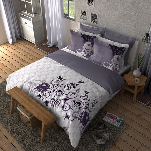 Boutique Living India Highlife Enigma 300 Thread Count King Printed Bedsheet Set