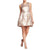 Jessica Simpson Metallic Jacquard Fit & Flare Dress - Gold