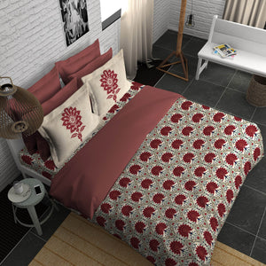Boutique Living India Alpha Modern Classics Smooth & Silky Touch Sateen King Printed Bedsheet Set
