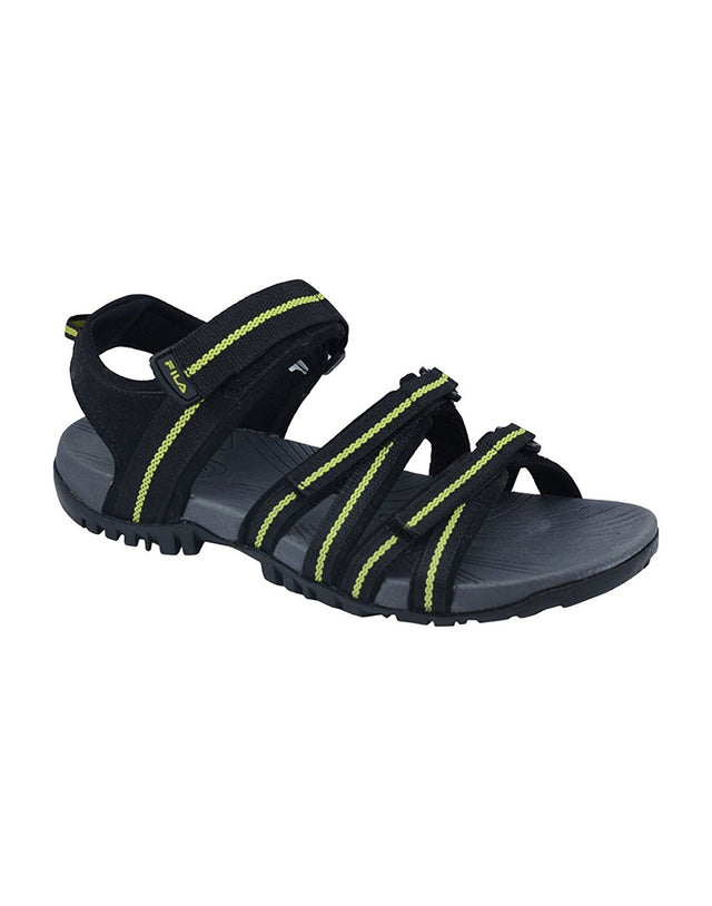 FILA Men's Black & Lemon Green Gabor III Sandals - 11004725