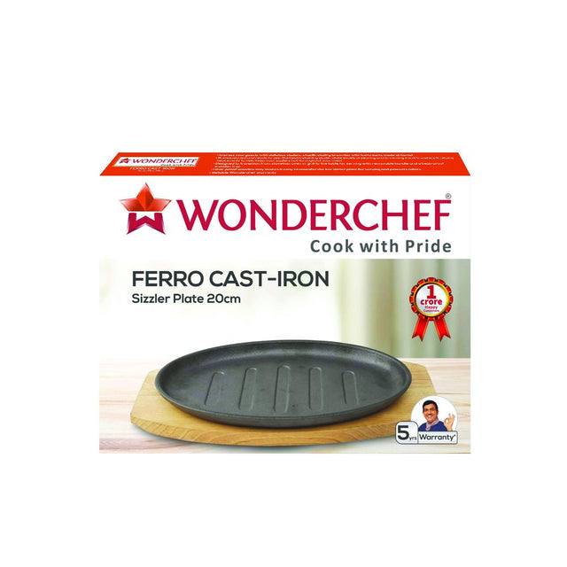 Woderchef Ferro Cast-Iron - Sizzler Plate (Black)