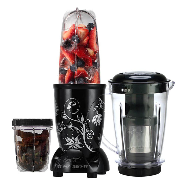 Wonderchef Nutri-blend Black with Juicer attachment