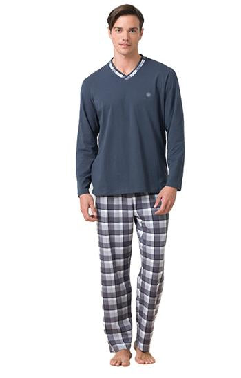 Blackspade Men Essential Pj Set - Grey