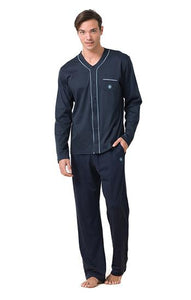 Blackspade Men Essential Pj Set - Navy