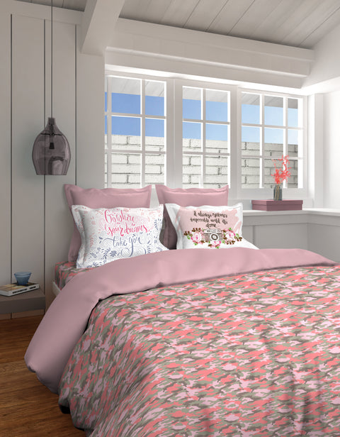 Boutique Living India Young@Heart Camouflage 325 Thread Count King Youth  Bedsheet Set