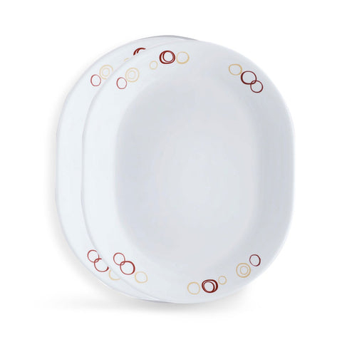 Corelle Livingware Circle 2 Pieces Oval Serving Platter Set 8903813207050