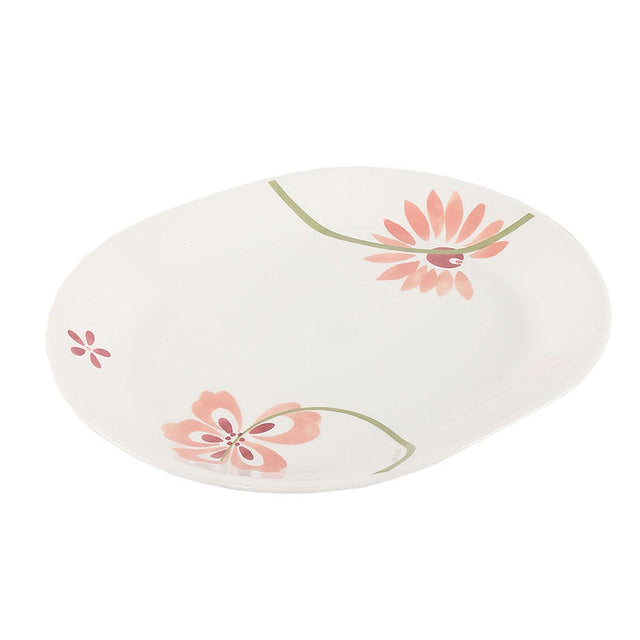 Corelle Asia Pretty Pink 2Pc Oval Serving Platter -8903813209139