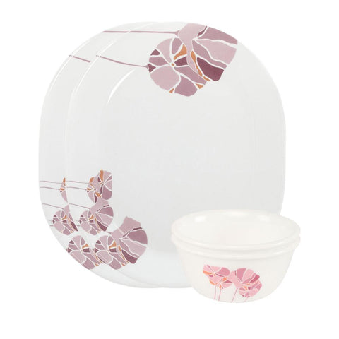 Corelle India Collection Pink Lotus 4 Pcs Dosa Set - 8903813251756