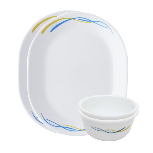 Corelle India Impressions Waves 4 Pcs Dosa Set - 8903813251855