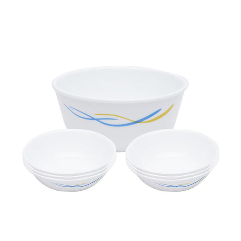 Corelle India Impressions Waves 7 Pcs Pudding Set - 8903813252142