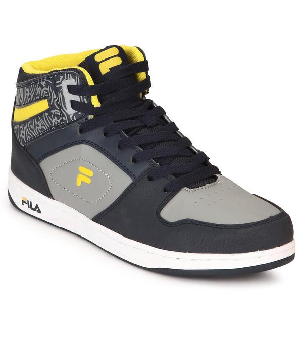 FILA Men's Grey & Yellow Oriana Lifestyle Shoe - 11004002