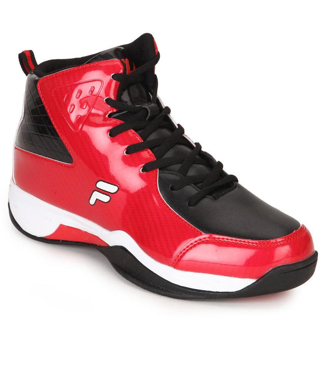 FILA Men's Red & Black Ball Hand Sports Shoe - 11004048