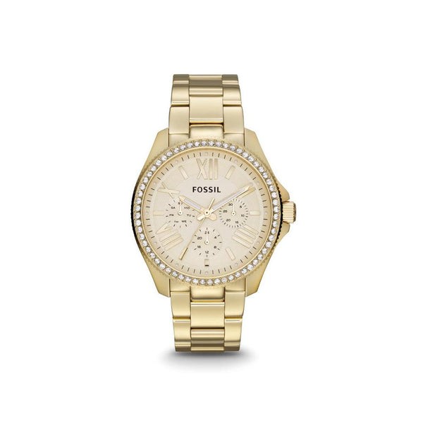 Fossil Cecile Women's Multifunction Champagne Dial Gold-tone Watch AM4482