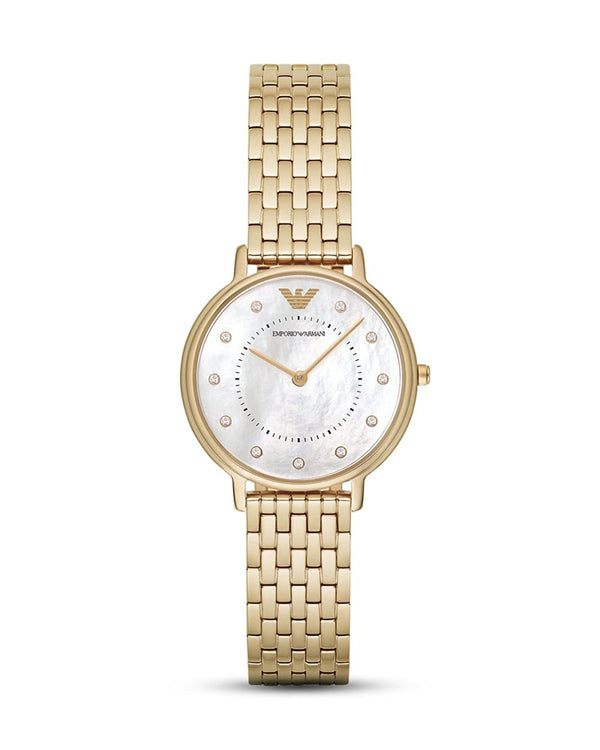 Emporio Armani Kappa Women's Analog Watch with Precious Stone on the Dial