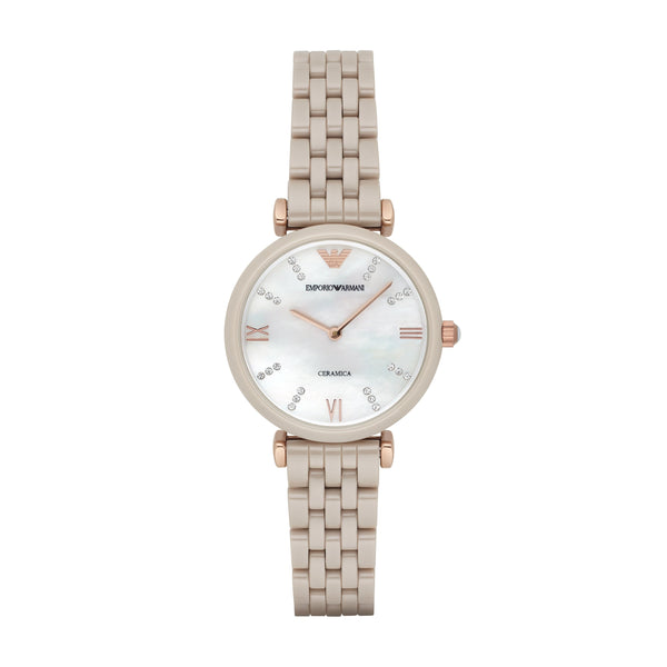 Emporio Armani Women's Nude Analog Watch
