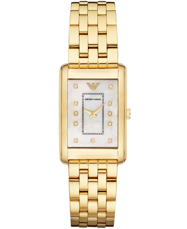Emporio Armani Classic Women's Mother Of Pearl Dial Analog Watch