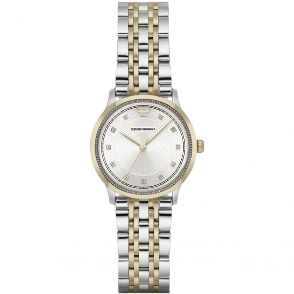 Emporio Armani Women's Silver & Gold Analog Watch