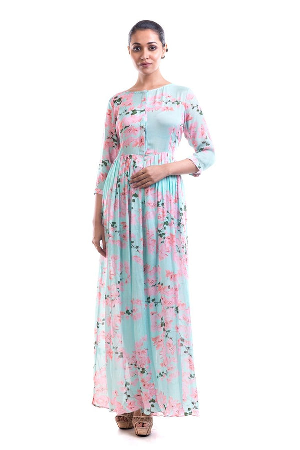 Anushree Agarwal - Bougainvillea Print Long Tunic