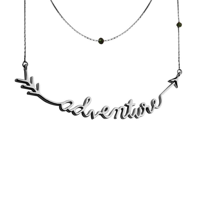 Adventure Sterling Silver Necklace - Silver Plated