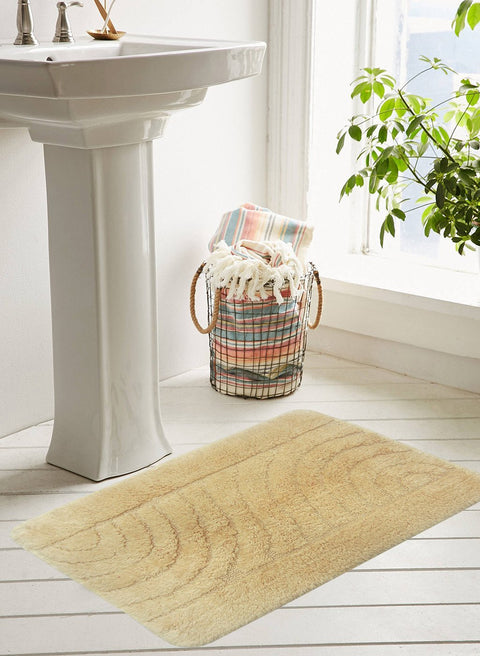 CLASSIC BATH MAT 100% Cotton with Anti Skid, Rubber Backing, Max absorbance & Super soft (BM562)
