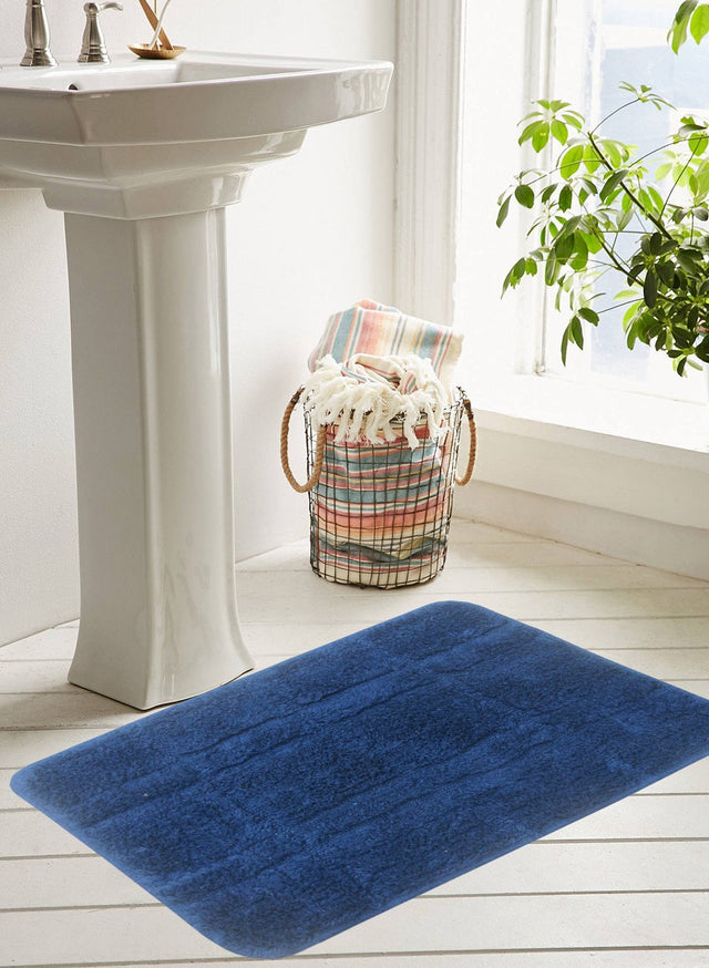 CLASSIC BATH MAT 100% Cotton with Anti Skid, Rubber Backing, Max absorbance & Super soft (BM563)
