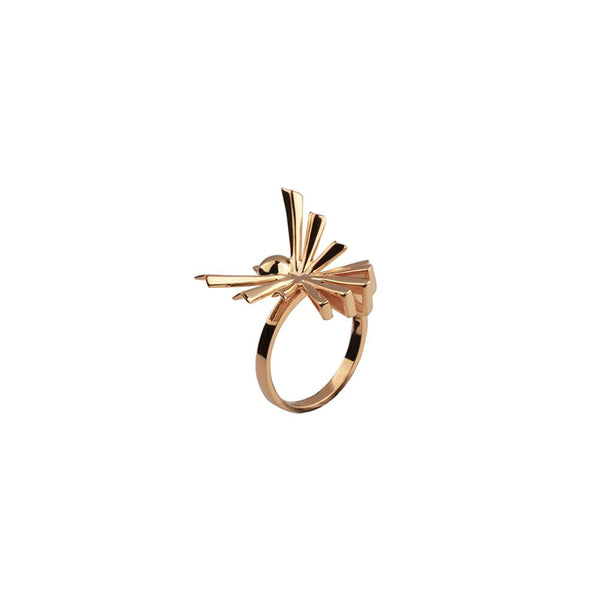 Bird Sterlling Silver Ring - Gold Plated