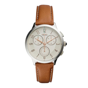 Fossil Abilene Chronograph Dark Brown Leather Watch
