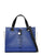 Colorblocked Saffiano Charm Satchel Blue