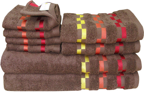 8 Pc Sonoma Towel Set 100% Cotton (2 Bath Towel+ 2 Hand Towel + 4 Face Towel) (C_Bt120Z_Bt120Z_Ht52Z_Ft90Z)